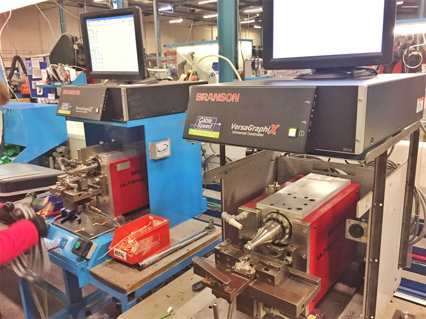 2 x Branson UltraWeld 20 Ultrasonic Metal Welding Solutions from Cablespeed