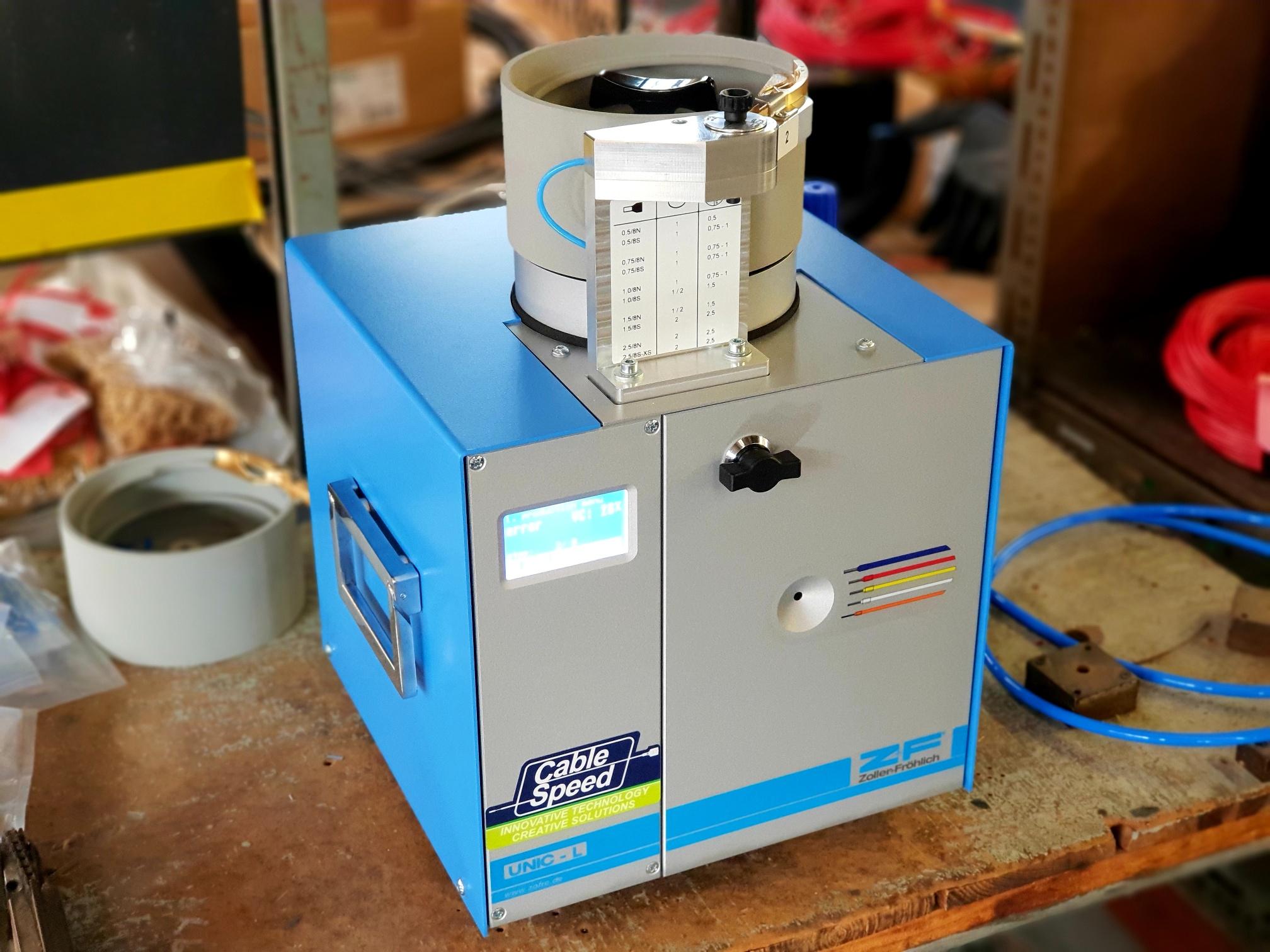 Z&F UNIC-L Bootlace Ferrule Strip and Crimp Machine